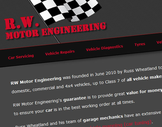 R W Motor Engineering Home Page