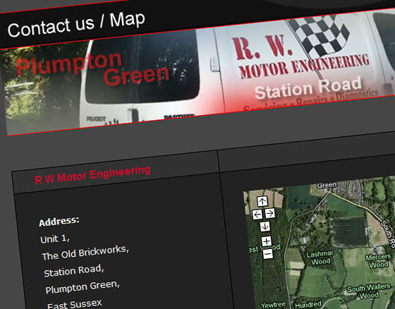 R W Motor Engineering Contact Us Map